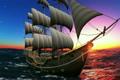 船舶 航海 帆船の動画 4082612