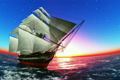 船舶 航海 帆船の動画 4082614