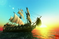 船舶 航海 帆船の動画 4082616