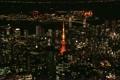 【空撮】東京夜景 東京タワーとお台場レインボーブリッジ 5031385