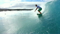 Slow Motion Surfer Turn On Wave 9601572