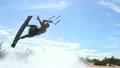 Man Does Kite Boarding Trick - Slow Motion  9601896