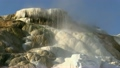 Mammoth Hot Springs Geology and Running Water at Yellowstone National Park 9864238
