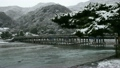 2月冬 雪の渡月橋  京都嵐山の冬景色 9952797