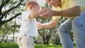 Loving Caucasian Father Fun Playing Toddler Boy Park 10056235