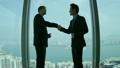 Ethnic Banking Executives Silhouette City Boardroom Handshake 10057849