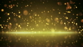 flying gold particles and reflection loop background 10487770