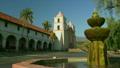 Historic Old Mission Santa Barbara, water fountain and grounds, Santa Barbara, California 10664158