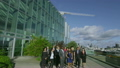 Portrait of attractive diverse business team outside london office building 11410045