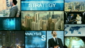 3D montage Multi ethnic business centre strategy touch screen technology 11700575