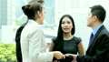 Asian Chinese Caucasian Business Team Tablet Technology  11701726