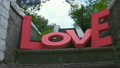 LOVE sign made ??of cardboard close up 11925405