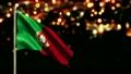 Portugal National Flag City Light Night Bokeh Loop Animation  12554700