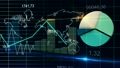 World Map Statistic Data Graph Dark Blue Loop Finance Background 12694630