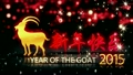 Year of The Goat 2015 Red Night Bokeh Mandarin Loop Animation 12694661
