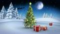 snowy, christmas, tree 12738726
