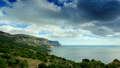 Movement of the clouds on the mountain bay Aya. Crimea, Russia (TimeLapse) FULL HD 12846640