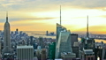 NYC Cityscape Time Lapse Sunset 12872374