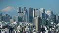 国際都市首都東京イメージ 美しい富士山と新宿高層ビル群 インターバル撮影 ズームイン 13760908