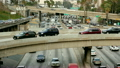 Overhead View of Traffic on Busy Freeway in Downtown Los Angeles California 14068900