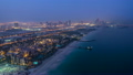 Dubai Marina Skyline night to day from Burj Al Arab. United Arab Emirates timelapse 15251127