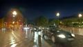 Night traffic at Nice street, France 15477621