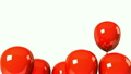 Red Balloons On White Background 16494129