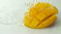 Water splash on mango. Slow Motion.  16533771