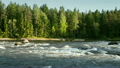 Natural landscape of Kymi in Finland, fast river 16925796
