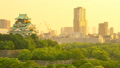 Osaka Castle and surrounding streets (Interval shooting from evening to night) 16945815