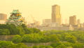 Osaka Castle and surrounding streets (Interval shooting from evening to night) 16945816