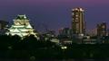 大阪城と周辺の町並み (インターバル撮影 夜景) 16945817
