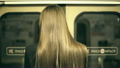 Girl Teenager is Riding in a Train and Get off  17065950