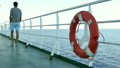 Deck of a Cruise Liner with Safety Float 17216266