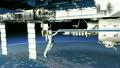 สถานีอวกาศนานาชาติ ISS ที่อยู่นอกเรือกำลังตรวจสอบวัสดุวิดีโอ 3DCG 17255802