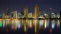 サンディエゴの夜景 37 タイムラプス ダウンタウンと海 17290844
