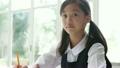 勉強をする制服姿の中学生の女の子 17414604