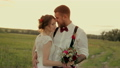 beautiful young couple bride and groom standing in 18099127