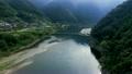 岩間沈下橋 空撮 四万十川の動画 18404878