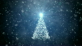 Growing Christmas tree with falling snowflakes 18445153