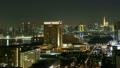 오다이바에서 보는 도쿄 도심 황혼에서 야경에 시간 경과 미세 속도 촬영 19243286