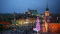 Old Town of Warsaw in Poland by Night at Christmas 19719532