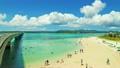 沖縄古宇利島 ビーチ俯瞰 タイムラプス 19933877