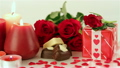 Red roses and chocolate candies for Valentines 19974605