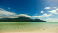 beautiful beach and tropical sea.Timelaps. 20131029