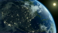 Rotating Earth from space. 360 degrees loop. 20368577