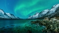 Northern Lights reflected in Norway Fjord 20527011