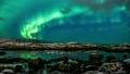 Northern Lights beach in Norway, Lofoten Islands 20527021