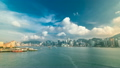 Hong Kong Harbor panorama cityscape timelapse - 21052083