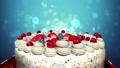 Celebration cake from falling gift box 21121751